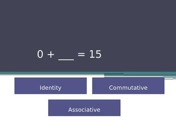 Identity, Commutative, and Associative Properties Game