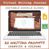 Identity & Culture Writing Journal | 20 Writing Prompts |