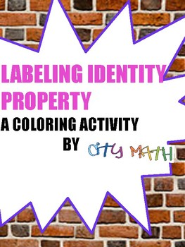 Identity Property Coloring Sheet