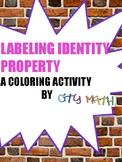 Identity Property Coloring Sheet