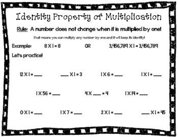 Identity Property of Multiplication