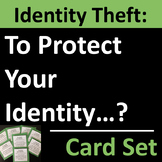 Identity Theft Card Set for Group Activities, Warm-Ups, or Writing Prompts