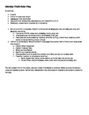 Identity Theft Role-play activity