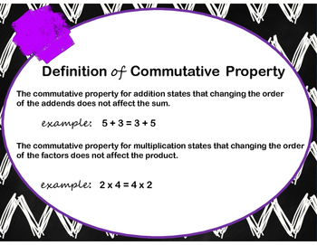Identity and Commutative Properties (Addition & Multiplication) Task Cards
