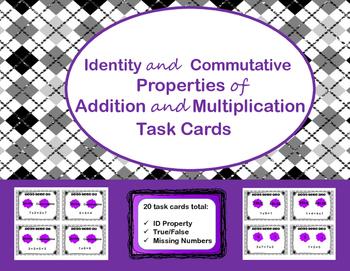 Identity and Commutative Properties (Addition & Multiplica