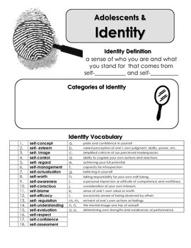 Identity and Self Notes: Finding your Identity as an Adolescent
