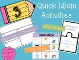 Idiom Activities - Quick & Easy (3 included)