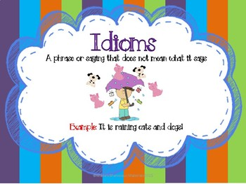 Figurative Language:Idiom Activity Set
