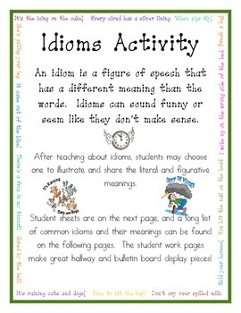 Idiom Activity and Extensive Idiom List