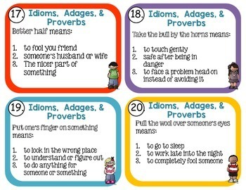 Idiom, Adage, and Proverbs Set 4