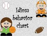 Idiom Behavior Chart