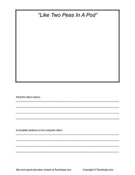 Idiom Book. Create a great Idiom book with this great template. NO PREP