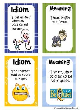 Idiom Card Game