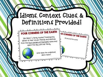 Idiom Cards Featuring Ida Idiom!