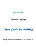 Idiom Cards for Writing