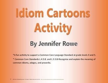 Idiom Cartoons Activity