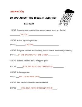 Idiom Challenge
