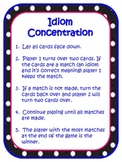 Idiom Concentration Game