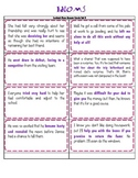 Idiom Context Clues Answer Cards Set 2