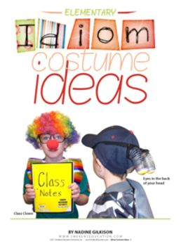 Idiom Costume Ideas: Elementary