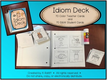Idiom Deck: Includes 70-Color and 70-Black & White Cards!