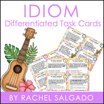 Idiom Figurative Language Task Cards