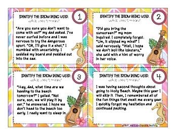 Figurative Language: Idiom Task Cards