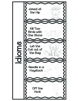 Idiom Foldables~ Use with your Interactive Notebooks!