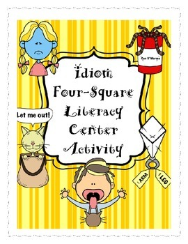 Idiom Four Square Literacy Center Activty