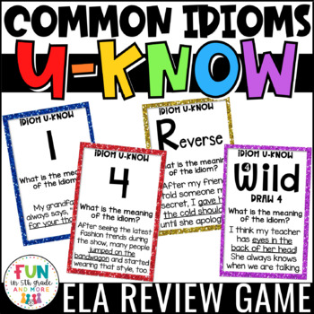 Idiom Game for Literacy Centers: U-Know