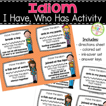 Idioms - I Have, Who Has Activity