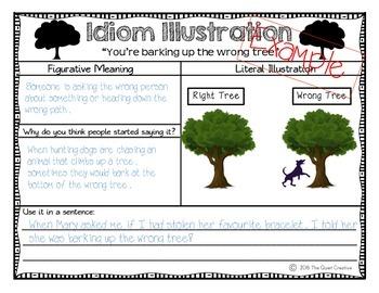 Idiom Illustration Worksheet Set