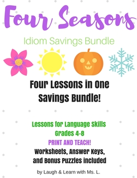 Idiom Lesson Bundle - 4 Lessons in 1!