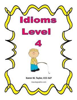 Idiom Level 4 list, Figurative Language, Multiple meanings