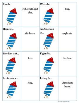 Idiom Match: Fourth of July