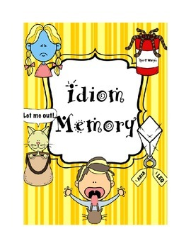 Idiom Memory Game Bundle--4 Game Sets, 88 different idioms!