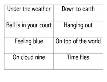 Idiom Match Up Cards