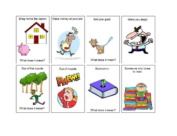Idiom Matching Cards with Pictures for Context - Set 3