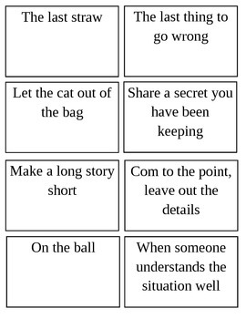 Idiom Matching Game