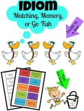 Idiom Matching, Memory, or Go Fish Game