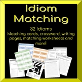 Idiom Matching- Set 1- 32 Idiom Cards, matching activities, and more