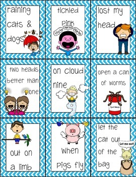 Idiom Matching Task Cards Activity