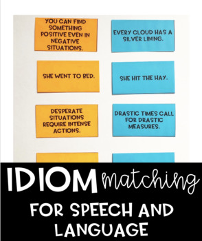 Idiom Matching for Speech and Language