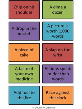 Idiom Pictionary Or Charades Set With  Different Cards