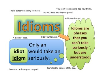 Poster - Idiom  (Only an idiot would take an idiom seriously.)