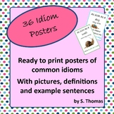 Idiom Posters (Ready to print set with 36 posters)