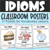 Idioms (A Set of 17 Vocabulary Posters)
