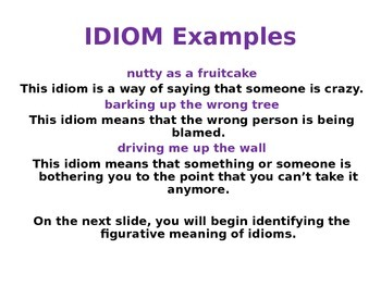 Idiom PowerPoint Figurative Language