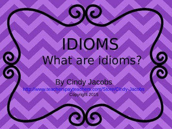 Idiom PowerPoint Figurative Language