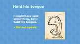 Idiom PowerPoint lesson aligned with Journey's Lesson 22, 2nd grade
